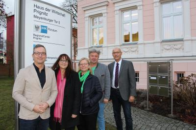 Mike Blechschmidt, Katrin Lange, Nora Görke, Jörg Gehrmann und Ronald Thiel (v.l.n.r.). Quelle: WADWD e.V.