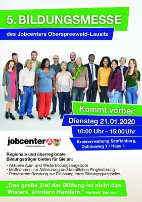 Foto zur Meldung: 5. Bildungsmesse des Jobcenters Oberspreewald-Lausitz am 21. Januar 2020