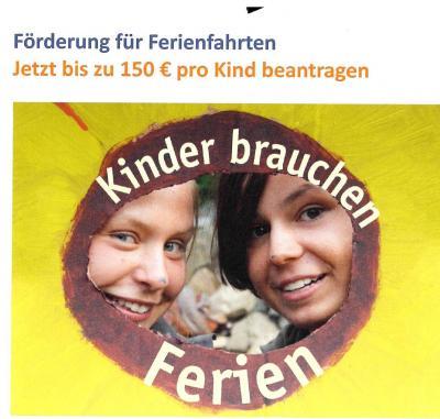 Foto zur Meldung: 'Kinder brauchen Ferien' - eine Finanzhilfe