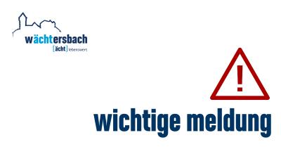 Vorschaubild zur Meldung: Einwohnermeldeamt Wächtersbach im Januar eingeschränkt geöffnet
