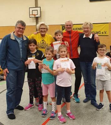 Verleihung Sportabzeichen Kids beim Weihnachtsturnen 15.12.2019