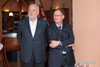 v.l. Horst Michael Arndt (Präsident Rotary Club Neuruppin), Lutz Leiteritz (Präsident Lions Club Neuruppin)