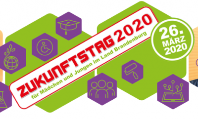 Unser Bild zeigt das Logo des diesjährigen Zukunftstages (Quelle https://zukunftstagbrandenburg.de).