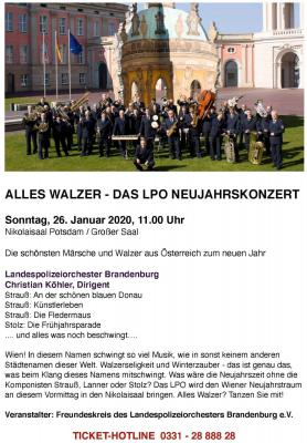 Vorschaubild zur Meldung: Alles Walzer mit dem Landespolizeiorchester Brandenburg
