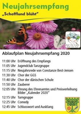 Foto zur Meldung: Ablaufplan für den Neujahresempfang