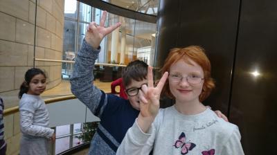 Foto zur Meldung: Primarstufen-Klassen besuchen den Landtag