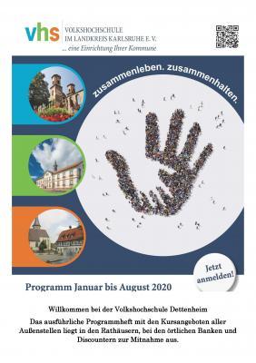 Vorschaubild zur Meldung: Volkshochschule im Landkreis Karlsruhe e.V. - Das Programm für das erste Semester 2020 ist da