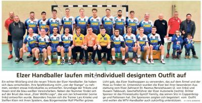 LDZ 17.01.2020 Handball Neue Trikots Herren