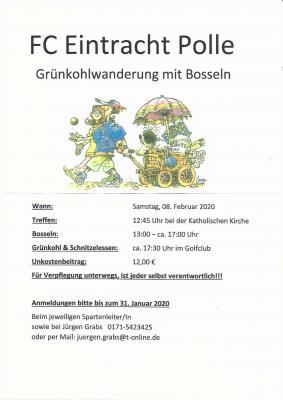 Foto zur Meldung: Eintracht Polle - Grünkohlwanderung mit Bosseln