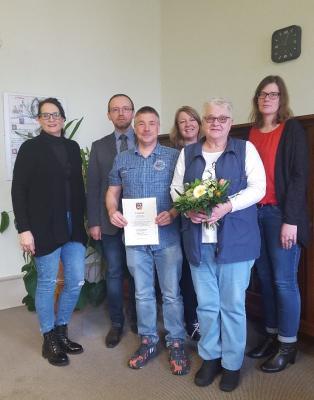 Vorschaubild zur Meldung: Das neue Jahr startet für die Mitarbeiter der Gemeinde Walkenried mit einem Dienstjubiläum...