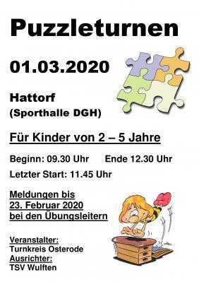 Vorschaubild zur Meldung: Puzzleturnen am 1. März 2020