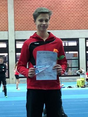 Milian Zirbus: Landesmeister über 60 m (Foto: K. Kriebel)