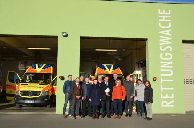 Foto zur Meldung: WIS und Stadt übergeben Anbau der Lübbenauer Lehrrettungswache