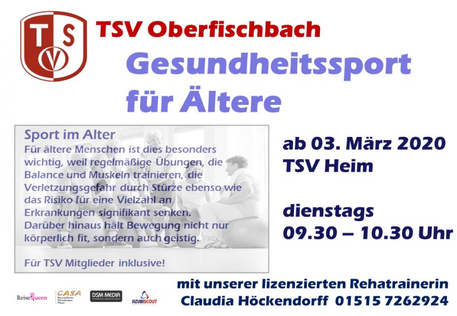 Bild der Meldung: Gesundheitssport für Ältere - ab 03. März!
