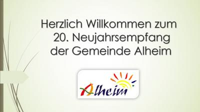 Vorschaubild zur Meldung: 20. Neujahrsempfang der Gemeinde Alheim