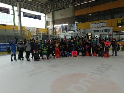 Vorschaubild zur Meldung: Eislauftag der SchülerInnen vom Schulhaus Traustadt