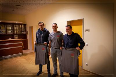 Von links nach recht: Stellvertreter Christian Bart, Bürgermeister Axel Jackob, Ortsbrandmeister Alexander Quack