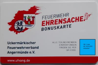 (L.T.) Bonuskarte Feuerwehr Ehrensache