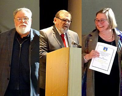 Peter Beeck, Reinhold Ewald und Edeltraud Dahmani