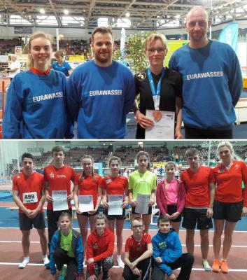 Foto zur Meldung: Starke Leistungen der Laager Athleten unterm Hallendach