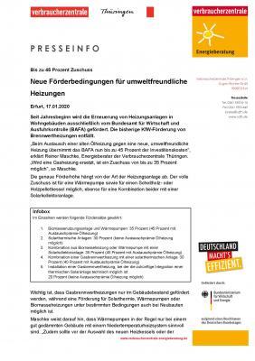 Vorschaubild zur Meldung: Neue Förderbedingungen für umweltfreundliche Heizungen