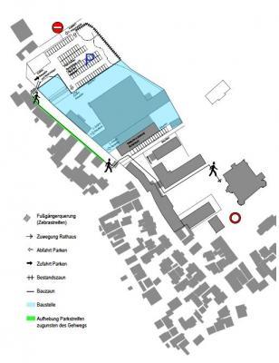 Skizze des Parkhauses