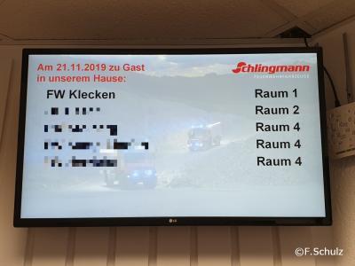 Zuordnung der Besprechungsräumen bei Schlingmann