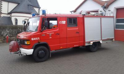 Außerdienst gestelltes Feuerwehrfahrzeug  (Löschfahrzeug 8) der Feuerwehr Müs