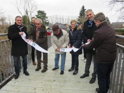 Bild der Meldung: Feierliche Eröffnung der Brücke in der Tübinger Straße in Hönow