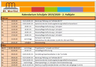 Vorschaubild zur Meldung: Kalendarium 2. HJ