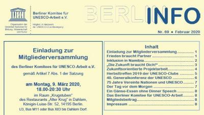 Vorschaubild zur Meldung: BERLIN INFO Nr. 69 ist erschienen