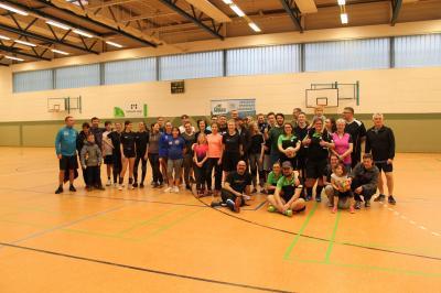 Das Foto zeigt die Teilnehmer der sportlichen Aktion. Foto: Kersten Freudenreich