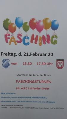 Kinder-Faschingsfeier für ALLE Groß Lafferder Kinder