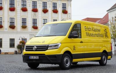 Foto zur Meldung: Das Erich Kästner Museumsmobil kommt nach Bernstadt
