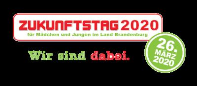 © Zukunftstag Brandenburg 2020 | Logo: Wir sind dabei.