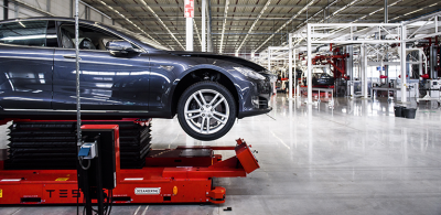 Tesla-Fabrik in Tilburg, Niederlande @Foto: picture alliance/Scanpix Denmark