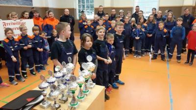 Foto zur Meldung: Hallenwettkampf der Jugendfeuerwehren 2020