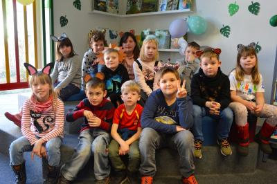 Kinder des Hortes der Elblandgrundschule genossen die Dschungel-Party  I Foto: Martin Ferch