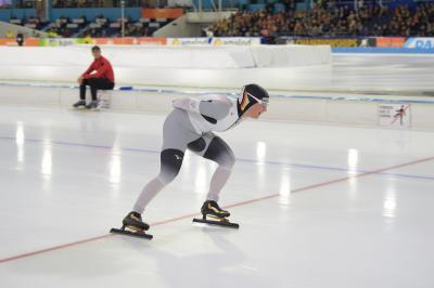 Claudia Pechstein, in Calgary geplant über die 1500 und 3000 m. Foto: Martin de Jong