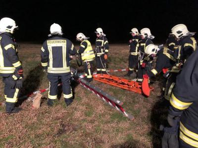 Foto zu Meldung: Feuerwehrübung in Rietz zur Eisrettung und Kartenkunde