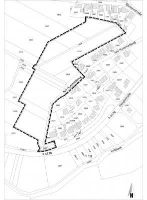 """Vorschaubild zur Meldung: Öffentliche Bekanntmachungüber die öffentliche Auslegungdes Bebauungsplanes sowie der Örtlichen Bauvorschriften""""Hummelberg II"""""""