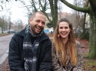 Elisabeth Schulze und Lukas Pellio