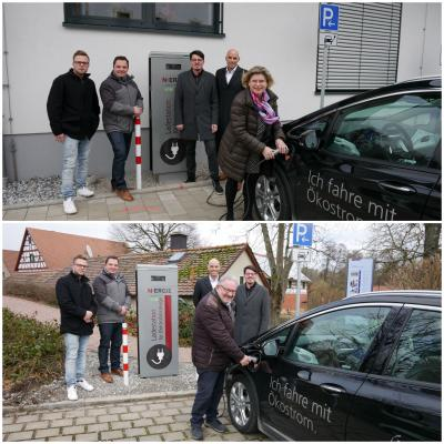 Foto zu Meldung: Zwei Ladesäulen für Elektroautos in der Verwaltungsgemeinschaft Dormitz