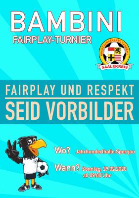Plakat Bambini Fair Play Turnier Spergau