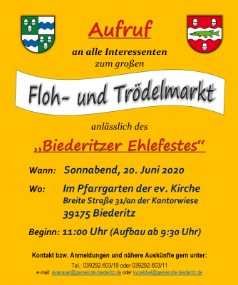 Vorschaubild zur Meldung: Floh- und Trödelmarkt! Wer hat Interesse?