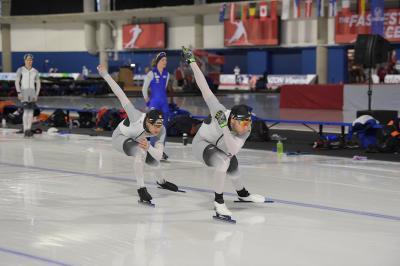 Sprint-Training mit Joel und Nico. Foto: Martin de Jong