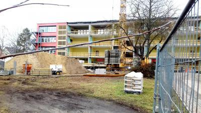 Foto zur Meldung: Bauarbeiten auf Schulcampus Lehnin verlaufen planmäßig