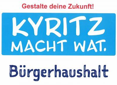 Vorschaubild zur Meldung: Noch bis 30. April können Vorschläge für den Kyritzer Bürgerhaushalt 2021 eingereicht werden