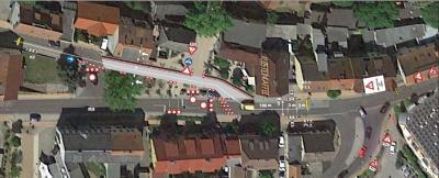 Vorschaubild zur Meldung: Sperrungen am Knoten Bahnhofstraße/Marktplatz