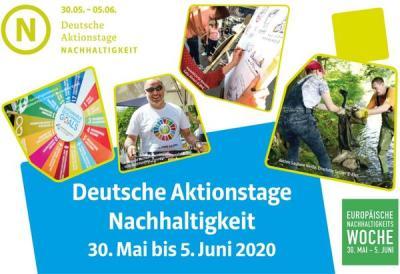 Vorschaubild zur Meldung: Deutsche Aktionstage Nachhaltigkeit 30.05. - 05.06.2020